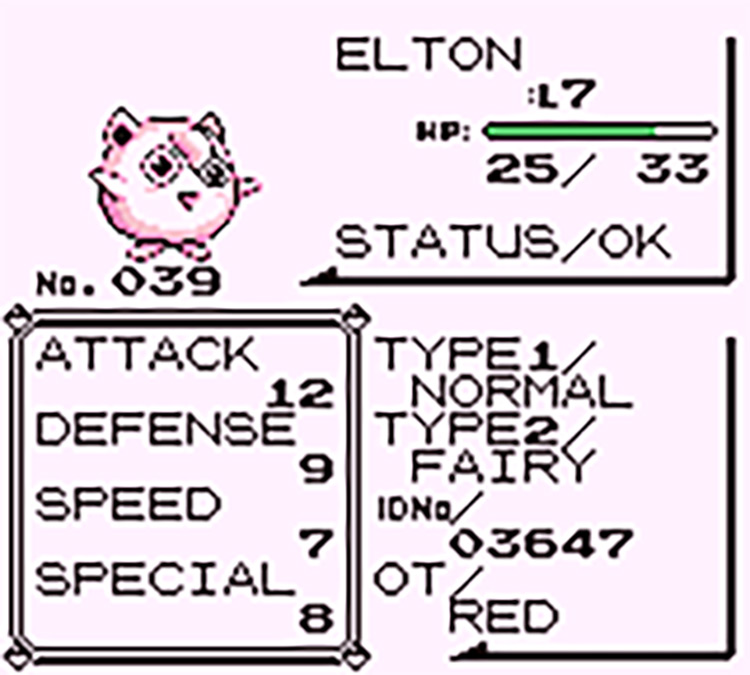 Pkmn Red w/ Gen6 typing rom