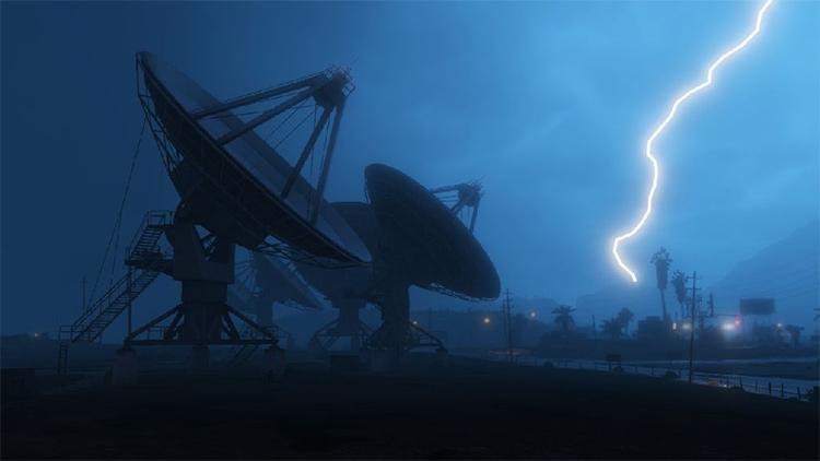 Realistic Thunder mod for GTA5