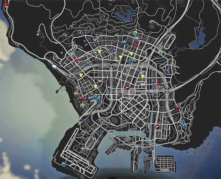 Colored Map Icons GTA5 mod
