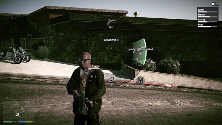Redefined Weapons and Gameplay mod in GTA5