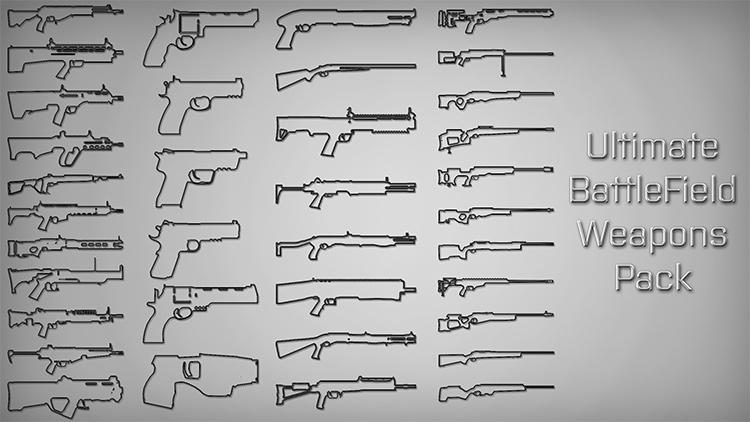 Ultimate Battlefield Weapons Pack GTA5