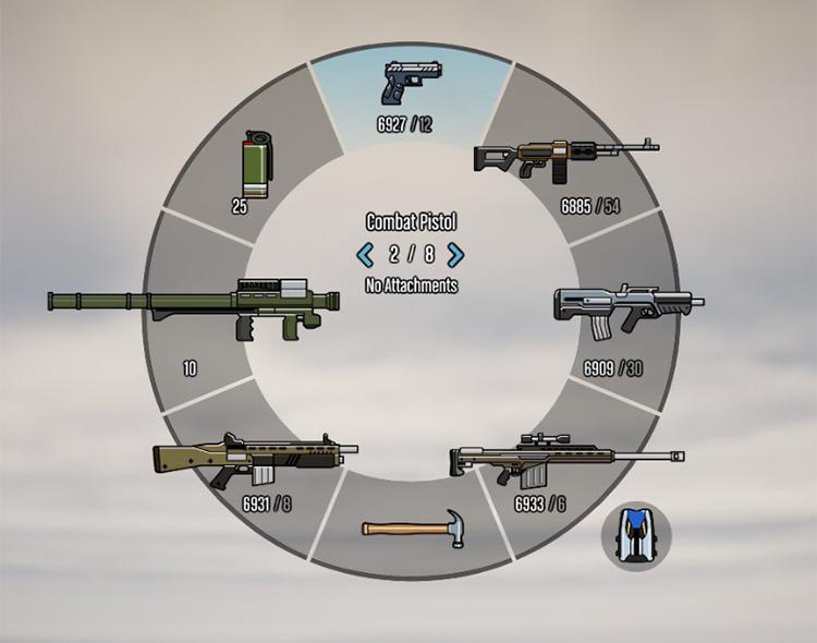 Colored Weapon Wheel GTA5