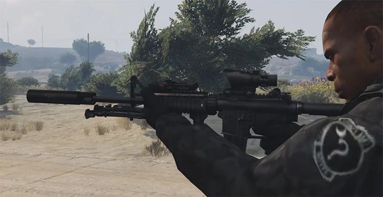 Colt M4A1 mod in GTA5