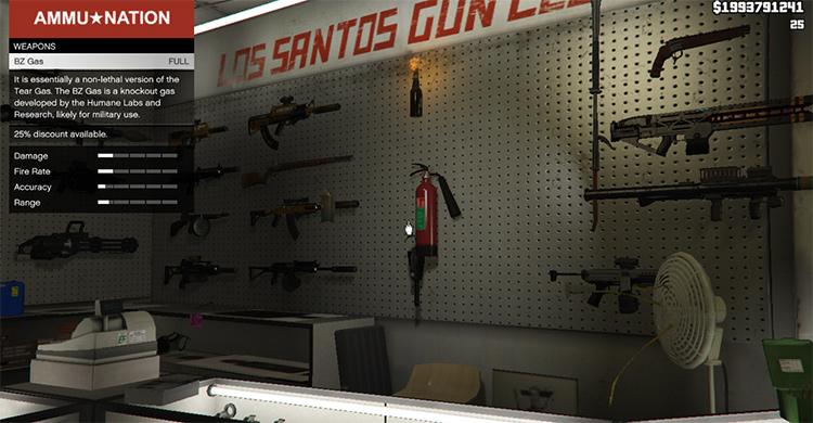Buy More Weapons Mod GTA 5