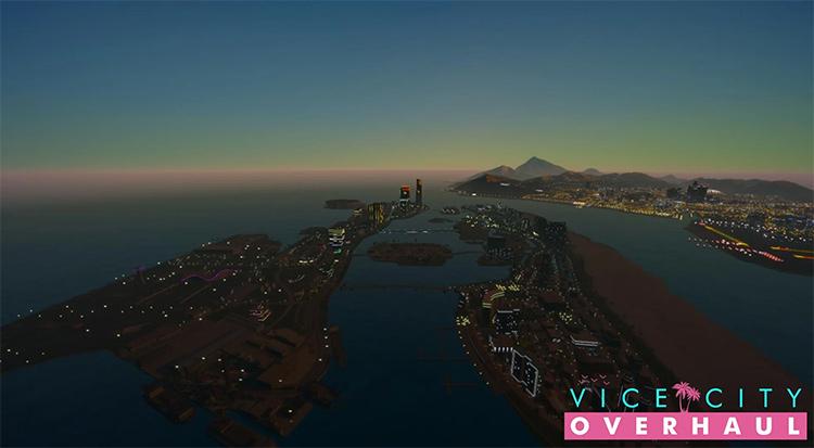 Vice City Overhaul mod in GTA5