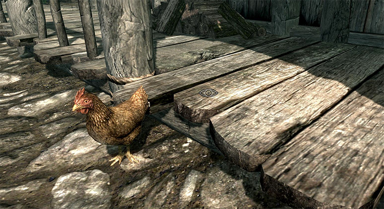 Chicken in Riverwood in Skyrim