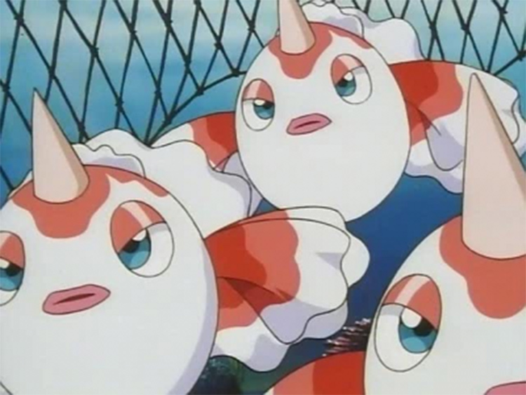 Goldeen in the anime