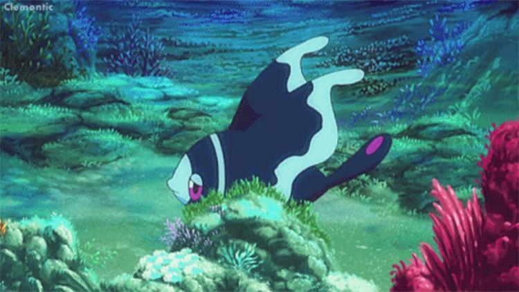Lumineon in the anime