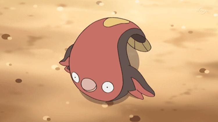 Stunfisk fish in the anime