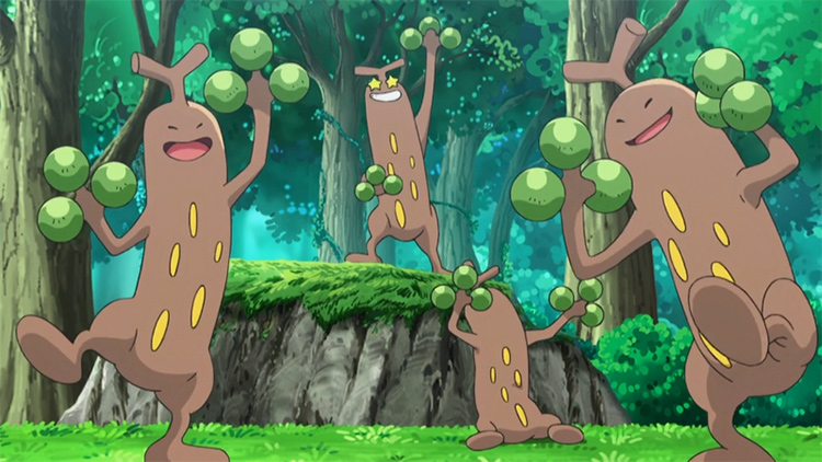 Sudowoodo tree Pokemon from the anime
