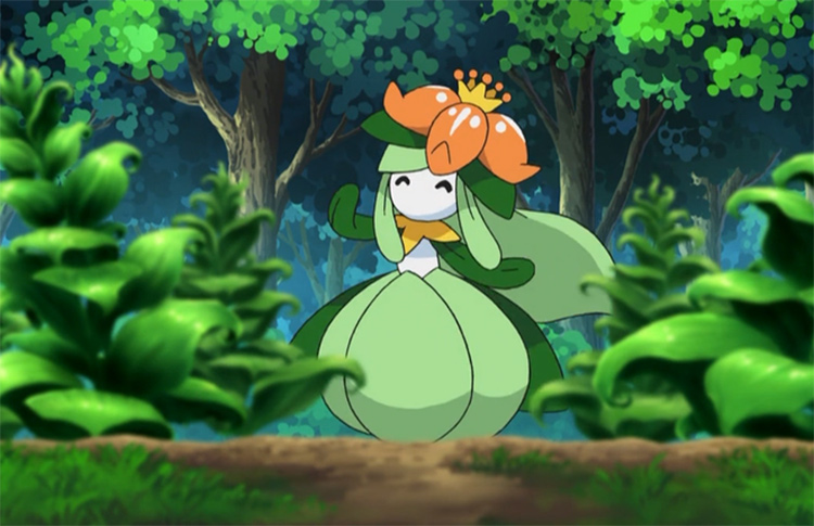 Lilligant plant-themed Pokemon creature