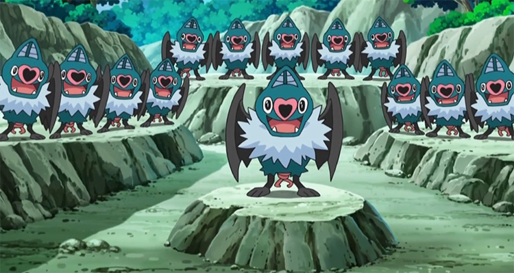 Swoobat in the anime
