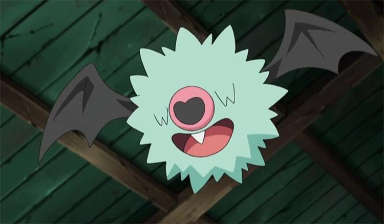 Woobat in the Pokemon anime