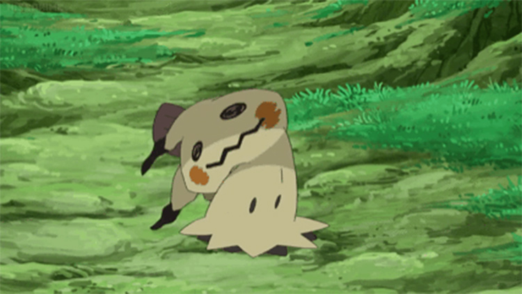 Mimikyu screenshot from the anime