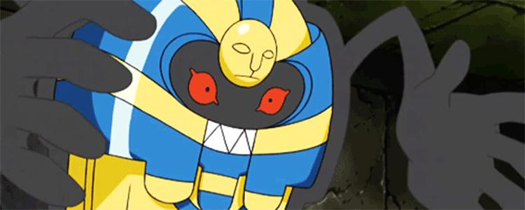 Cofagrigus screenshot in the Pokemon anime
