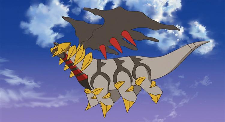 Giratina legendary Pokemon in the anime