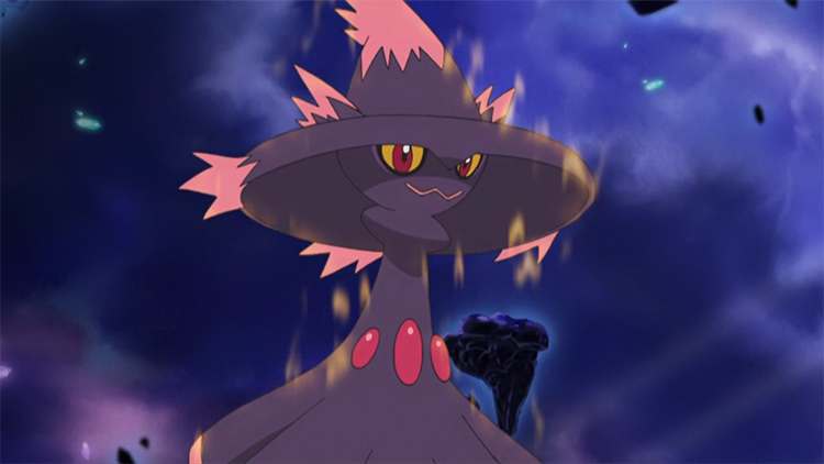 Mismagius ghost Pokemon from the anime