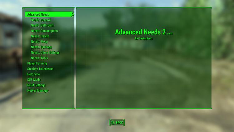Flashy JoeR Advanced Needs 2 mod