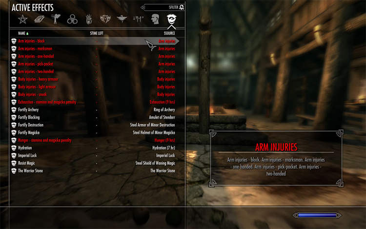 Battle Fatigue and Injuries mod