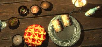 Pie and dessert tarts - food in Skyrim