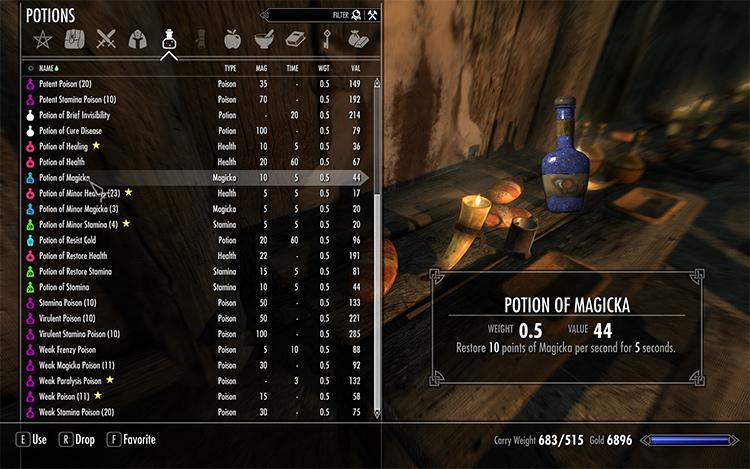Immersive Potions Skyrim