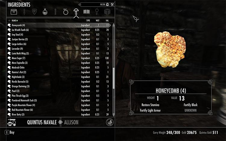 Apothecary Inventory Rebuild mod