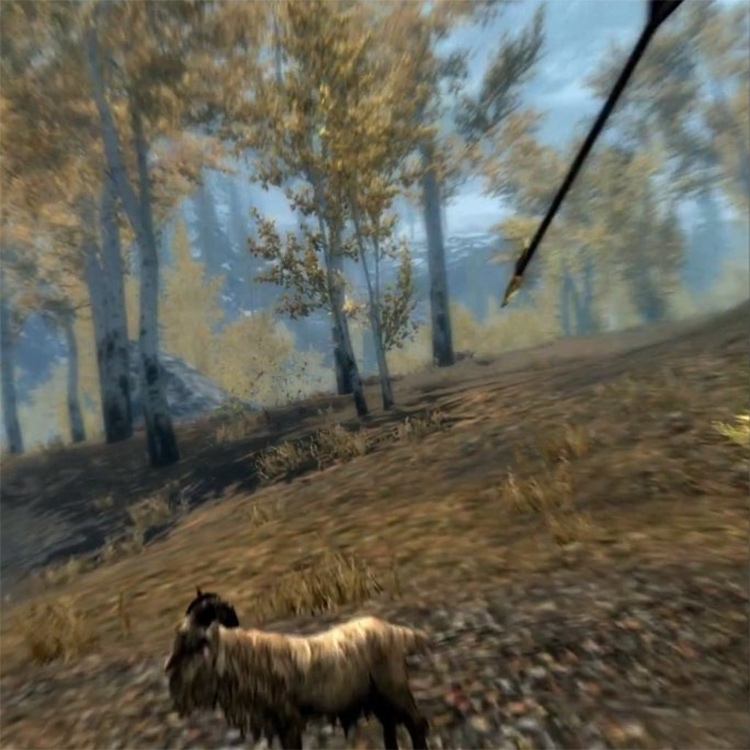 Spinning Arrows in Skyrim