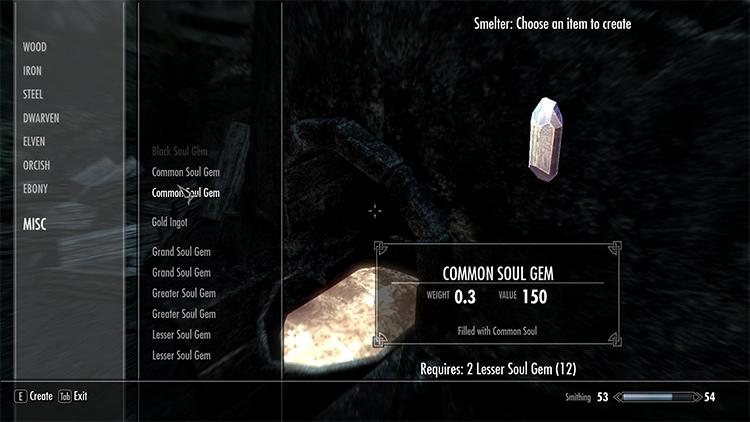 Soul Gem Crafting Recipes mod