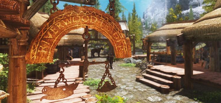 Riverwood Trader sign