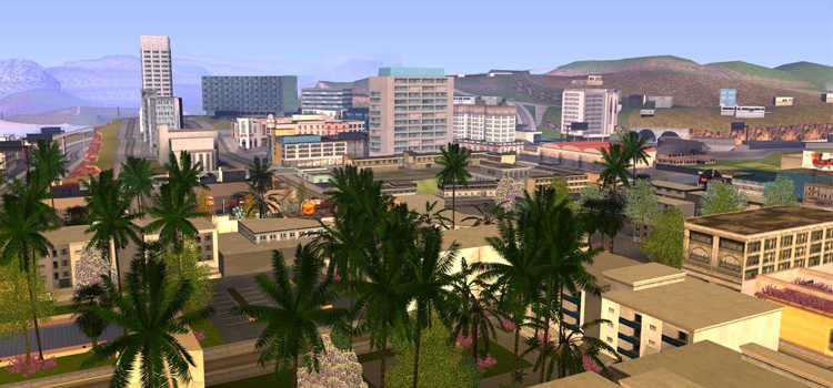 San Andreas GTA cityscape screenshot