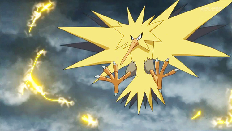 Zapdos in the anime