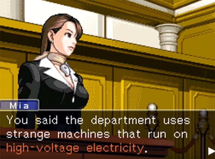Trials and Tribulations Ace Attorney screenshot
