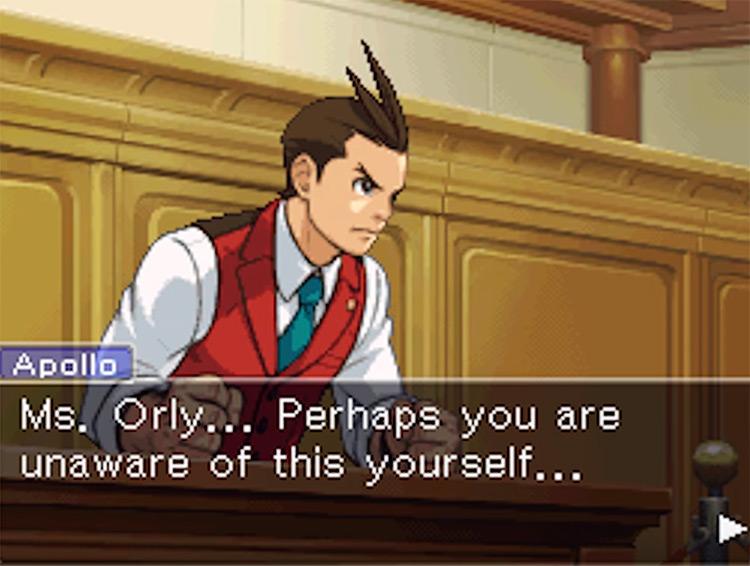 Apollo Justice: Ace Attorney game screenshot