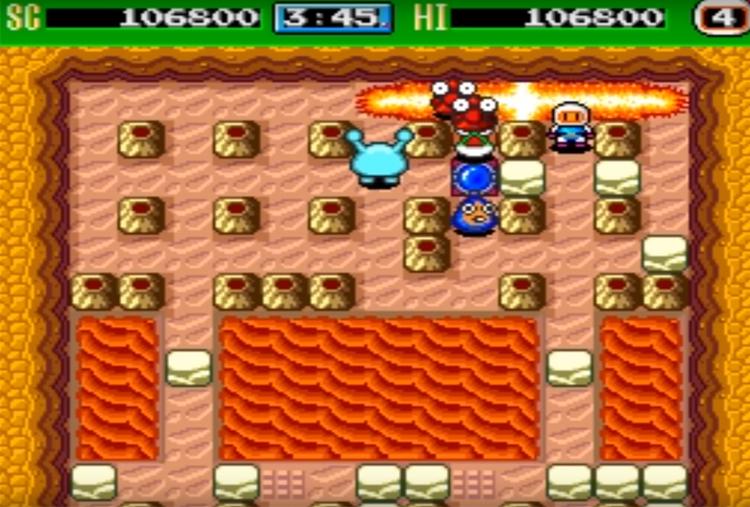 Bomberman '93 (1993) Gameplay