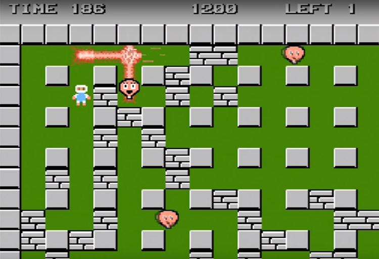 Bomberman (1985) Gameplay