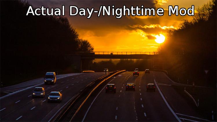 Actual Day/Night Times ATS mod