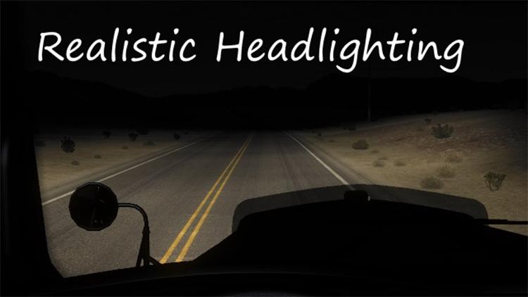 ATS Realistic Headlighting mod