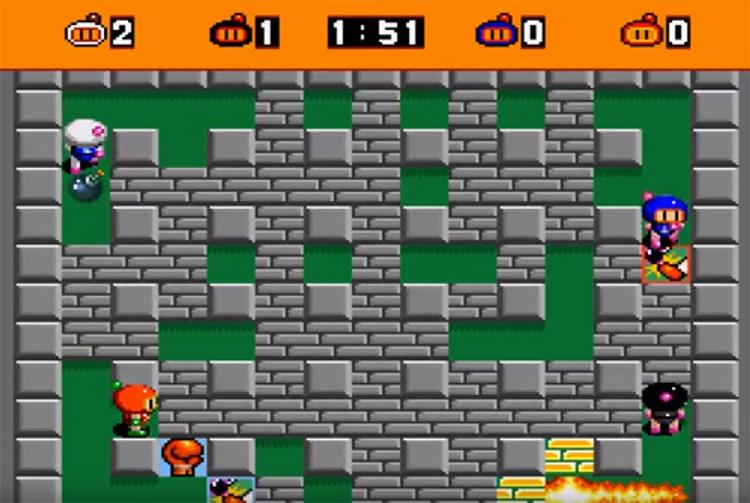 Super Bomberman SNES gameplay