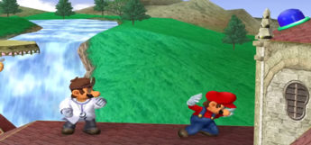 Dr Mario vs. Mario in Smash Gamecube