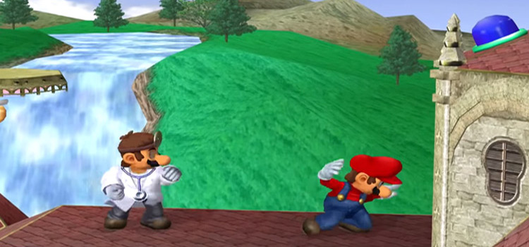 Dr Mario vs. Mario in Smash Gamecube