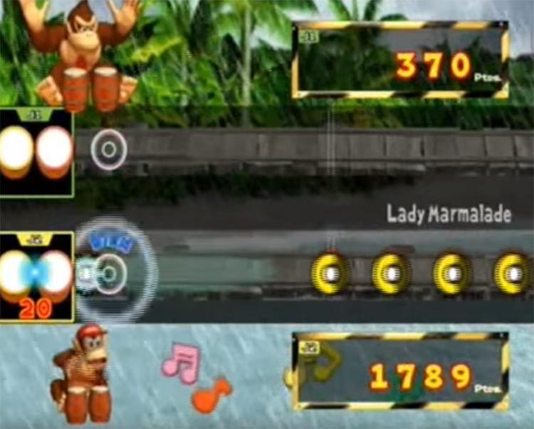 Donkey Konga Gamecube screen