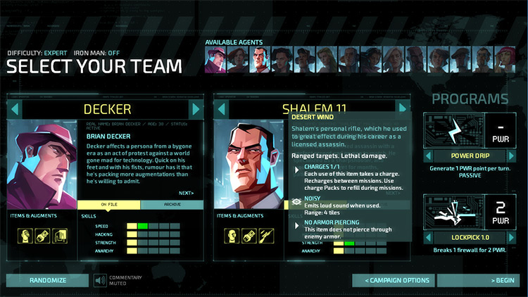 New Items and Augments for Invisible Inc