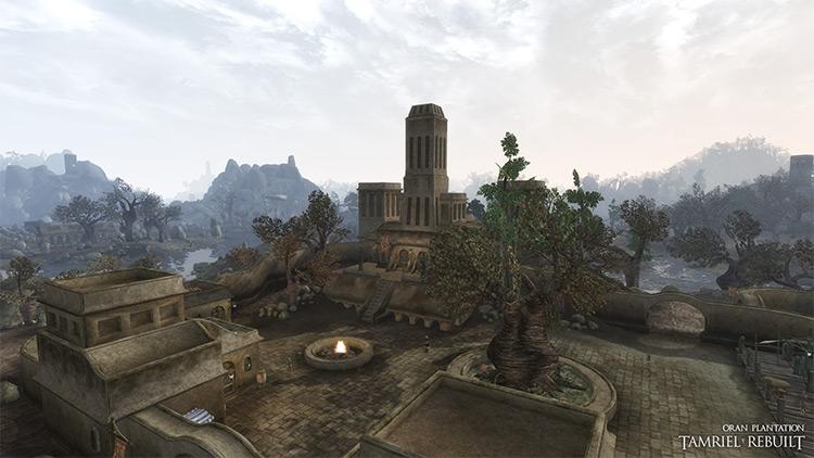 Tamriel Rebuilt cityscape of Morrowind