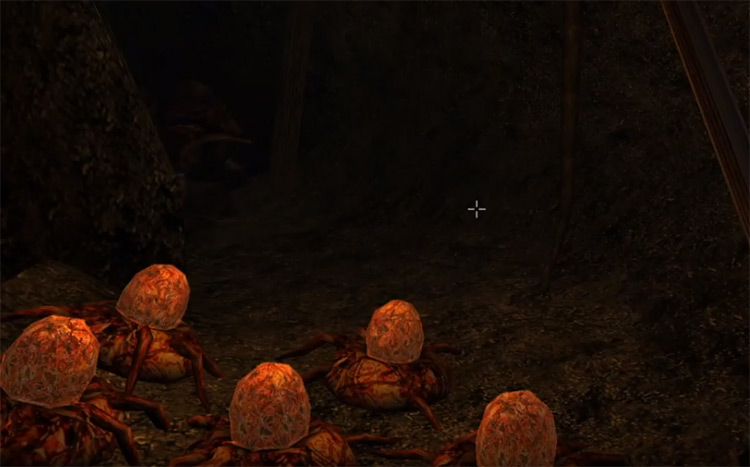 Accurate Attack in dungeon, morrowind screenshot