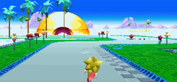 Gold Sonic Mania preview mod