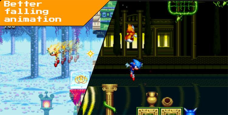 Better Sonic Falling Animation mod