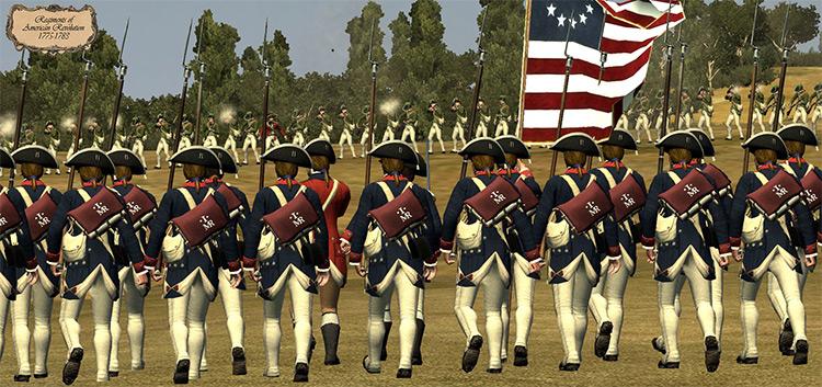 Regiments of American Revolution mod