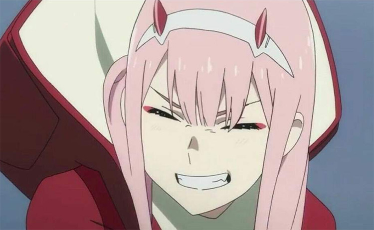 Zero Two from Darling in Franxx anime