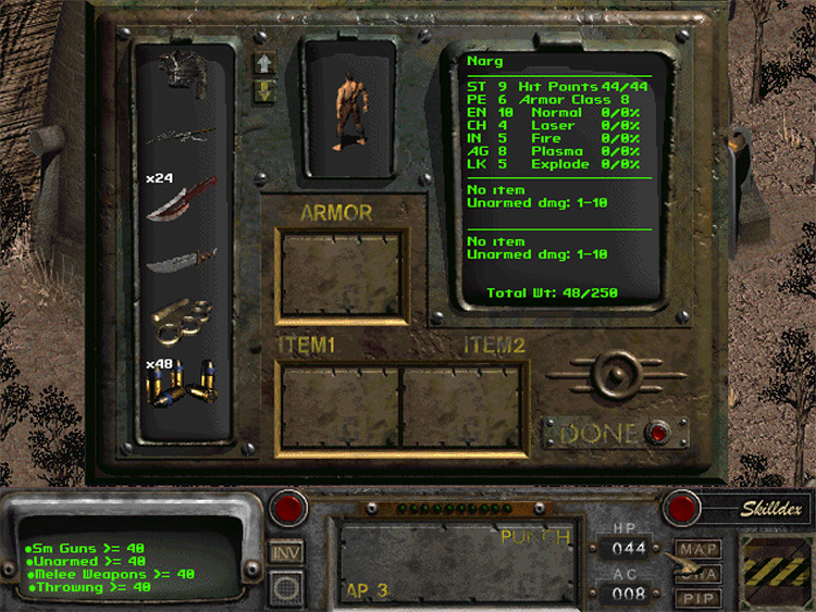 FO2 Starting Inventory mod