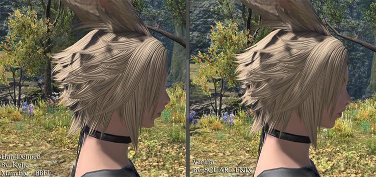 Hair Defined FF14 mod
